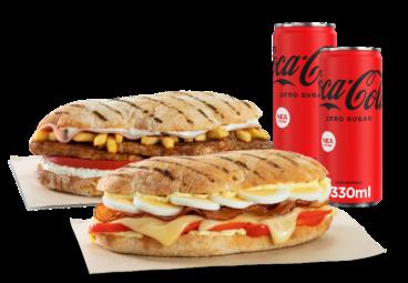 sandwich προσφορές delivery σάντουιτς με 6 υλικά & 2 αναψυκτικά online deals everest